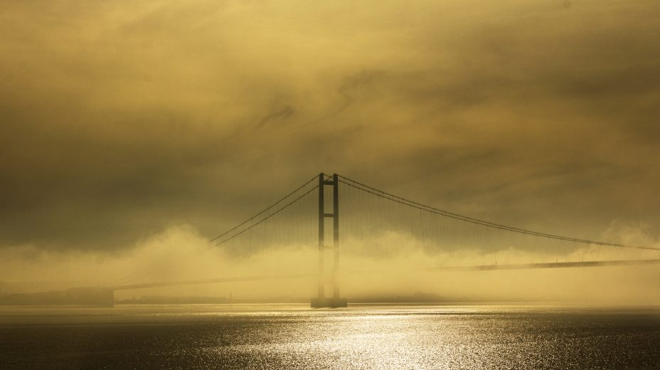 Mist and the Humber Bridge by Des O'Connor of Hull